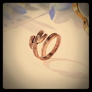 NWT Copper Rose Gold Cactus Wrap Ring Adjustable